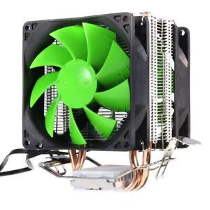 Tubos-De-Cobre-Dual-Doble-Ventilador-de-CPU-ventilador-de-refrigeracion-Cooler-Disipador-de-Calor
