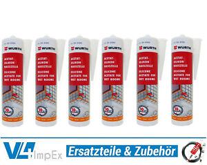 20-91-L-Wuerth-Acetat-Silikon-Nasszelle-6x-310-ml-verschiedenen-Farben