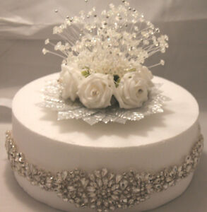 WEDDING-CAKE-DECORATIONS-amp-TOPPER-BLING-BLING-BLING-DIAMANTE-amp-CRYSTALS