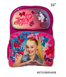 "Jojo  Siwa Deluxe  School 16/"" School Bag Backpack /"" BE YOU/"" 4408"