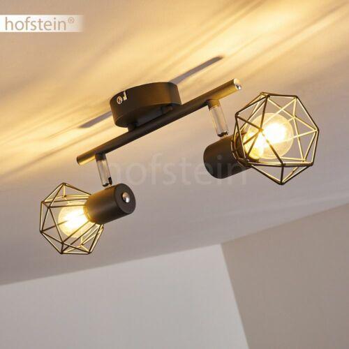 Retro Anthrazit Strahler Wohn Schlaf Zimmer Beleuchtung verstellbar Decken Lampe