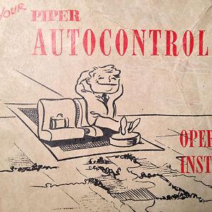 Details about Piper AutoControl Autopilot Pilot's Operating Manual aka  Edo-Aire Mitchell