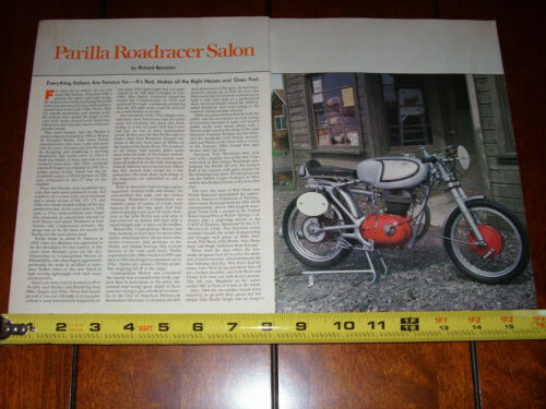 1959 PARILLA SUPER SPORT 250cc CAFE ROAD RACER ORIGINAL 1979 ARTICLE