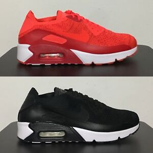 reputable site 9c070 0254a Details about Nike Air Max 90 Ultra 2.0 Flyknit Black White / Bright  Crimson [ 875943 ]