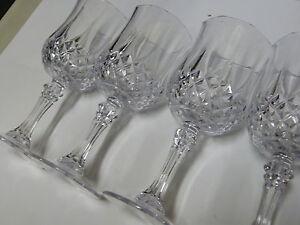 67e326581fd8 4 Set Vintage Crystal Wine Glasses Plastic Picnic Marine Acrylic ...