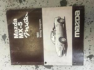 1991 Mazda Miata MX-5 MX5 Electrical Wiring Diagram ...