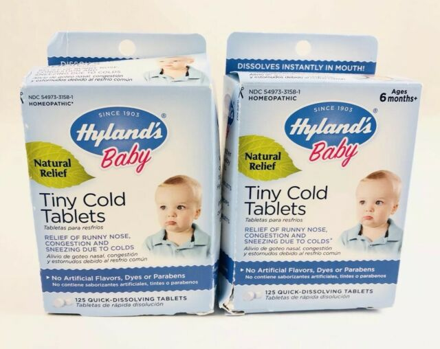 (2) Hyland's Baby Homeopathic Tiny Cold Tablets 125 ...