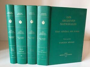 Las Archivos Nacionales Condición General Las Fondo 4/4 Vol. Completo 1978