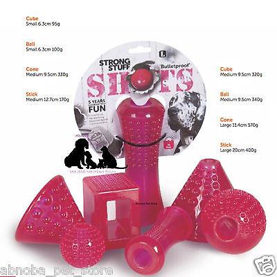 Strong Stuff Shots Bulletproof Virtually Indestructible Tough Dog Toys 4 Shapes | eBay