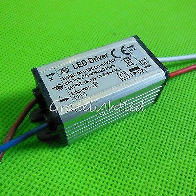Waterproof 6W 7W 8W 9W 10W 6-10X1W 350mA Hihg Power LED Driver AC110V 220V Input