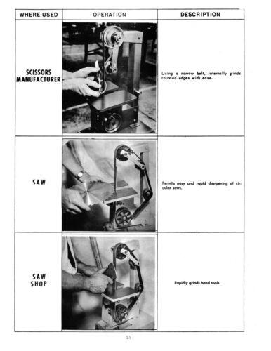 Grinder  Model 371-02 Operator /& Parts Manual *1153 Foley Rockwell Sander