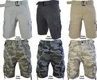 Mens Camo Shorts By Crosshatch Designer Casual Cargo Army Summer Shorts M-3XL