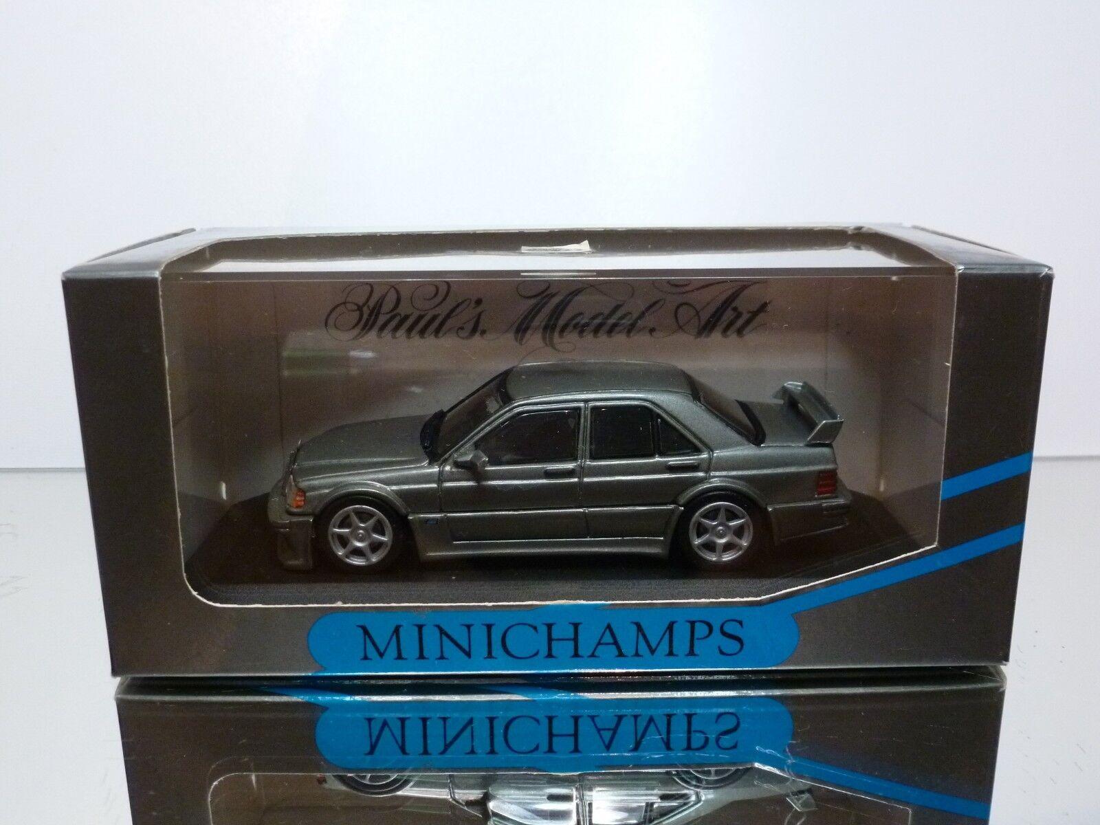 MINICHAMPS MERCEDES BENZ 190E 2.5-16 EVOLUTION - ANTHRACITE 1 43 - EXCELLENT IB