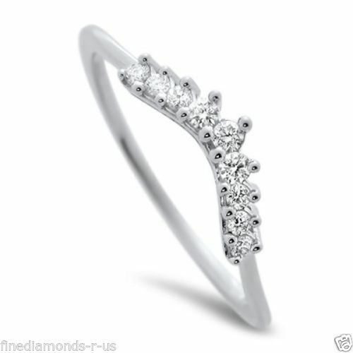 0.15ct Round Diamonds Wishbone Shaped Half Eternity Wedding Ring in 950 Platinum