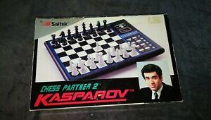 Jeu D'echecs Electronique : Kasparov Saitek Chess Partner 2 - Fonctionne Tbe