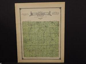 Iowa Tama County Map Columbia Township 1916 J13#01 | eBay