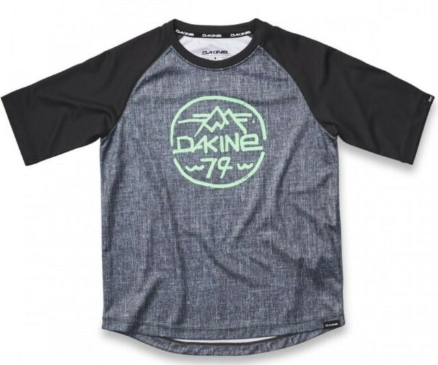 DAKINE Dropout Boys Youth Cycling Jersey 8 Carbon Black 2019 Sample ... cb54ee6ed