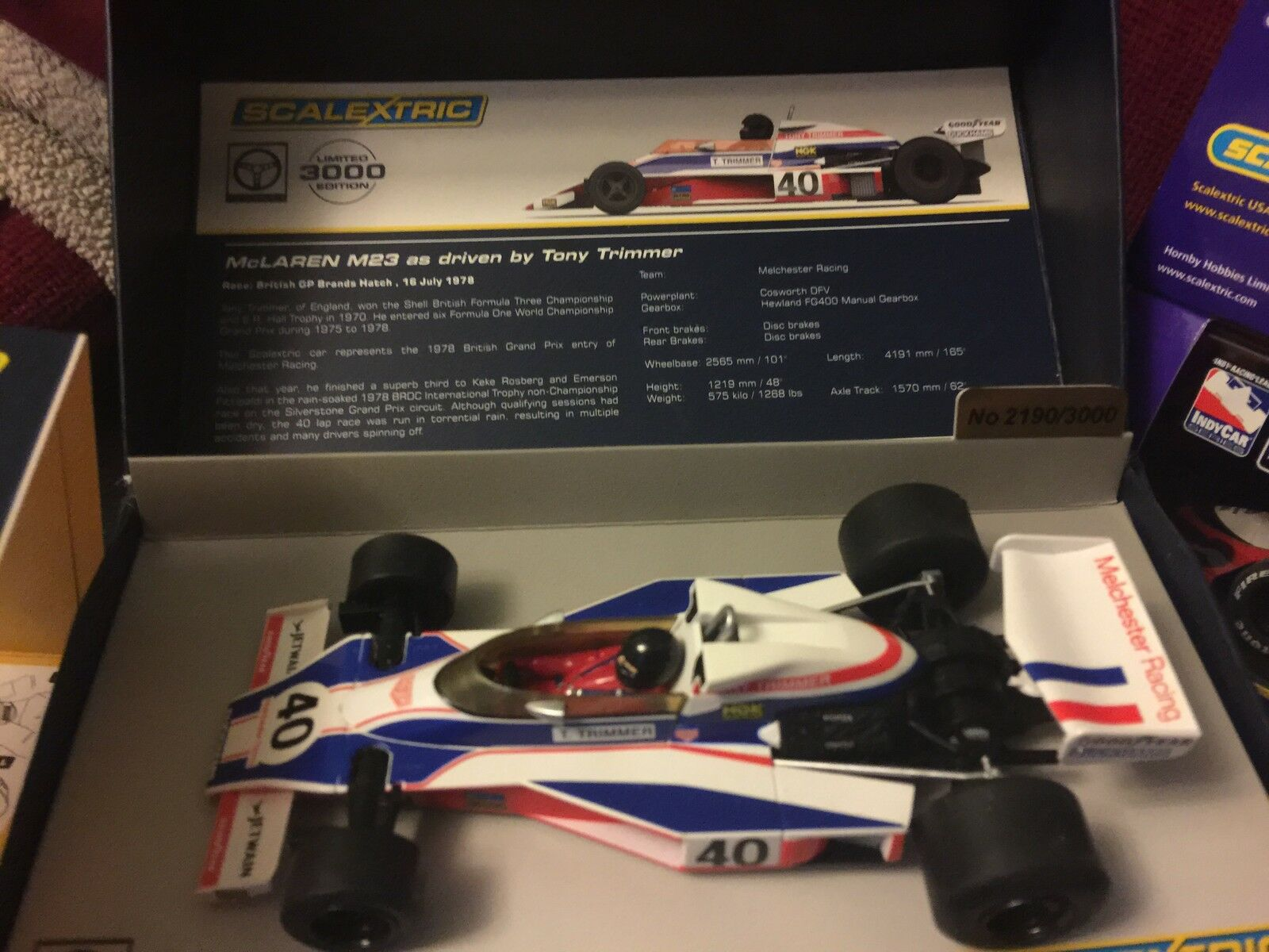 SCALEXTRIC LEGENDS MCLAREN M23 REF C3414A
