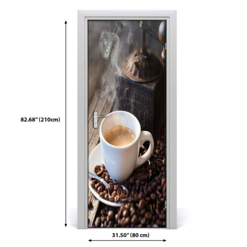 Details about  /3D Home Art Door Wall Self Adhesive Removable Sticker Decal Food Cup of coffee