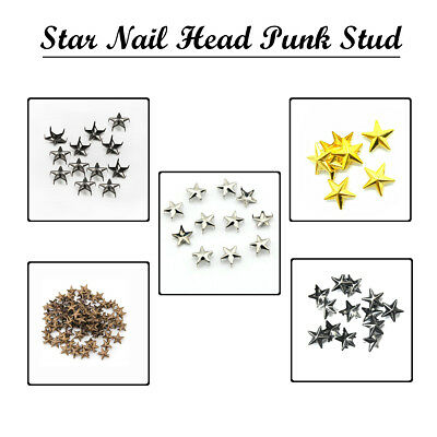 5mm//7mm Star Nail Head Punk Studs and Goth Spikes Bags Belts Leather Craft DIY