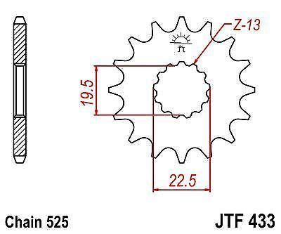 JT Front Drive 15t JTF433 Sprocket fits Suzuki GSX400 GSX-R400 85