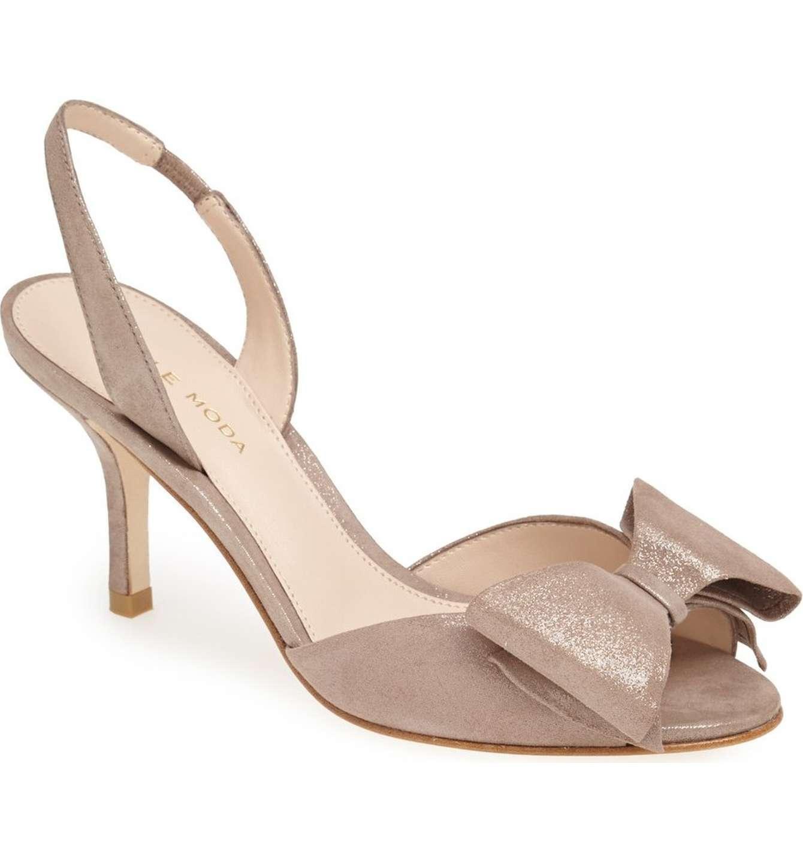 Pelle Moda Garner Slingback Sandal Heels Größe 9.5 Taupe Suede New With Box