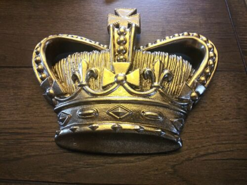 Gold Crown for Wall New Baroque Old World Medieval Handmade Plaque Home Decor