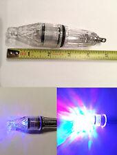 12cm Deep Drop Underwater Fish Squid Fish Lure RGB LED Light Flashing Lamp 5inch