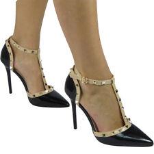 22d0125a03e item 1 Womens Ladies Studded T-Bar Ankle Strap Heel Party Fashion Shoes  Sandals Size -Womens Ladies Studded T-Bar Ankle Strap Heel Party Fashion  Shoes ...