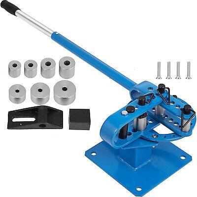 "Manual Bench Bender 7 Dies 1/""-3/"" Pipe Bender Telescoping Mountable Rod Tube"