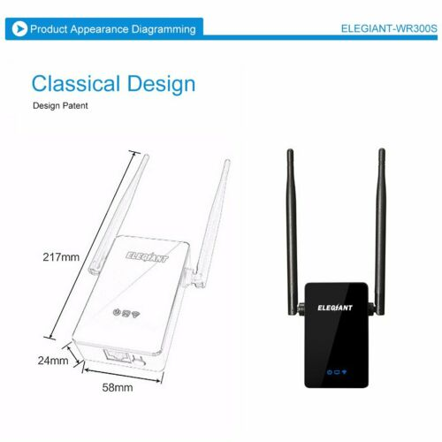 Wifi Repeater Wireless Signal Booster Extender Network Router Antenna Long Range