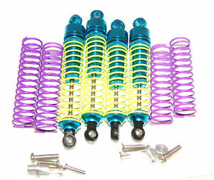 TEAM-LOSI-MINI-T-GPM-SUPER-SHOCKS-SET-BLUE-ALUMINUM-SMT355-SMT360