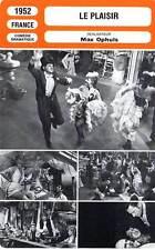 FICHE CINEMA : LE PLAISIR - Dauphin,Darrieux,Gabin,Morlaix,Servais,Ophuls 1952