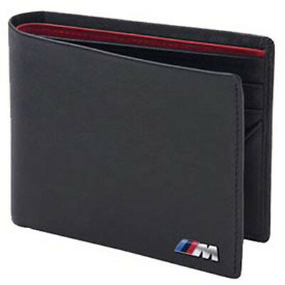 BMW ///M Power Black Genuine Leather Bifold Wallet OEM 80210435794