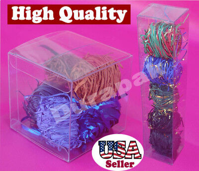 "50 PCS 2X2X9/"" Plastic Box Retail Hanging Display Favor Packing Retail Packaging"