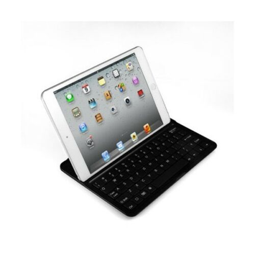 Aluminum Case and Wireless Bluetooth Keyboard Cover for Apple iPad Mini Black