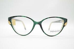 Vintage-Yves-Saint-Laurent-5008-Y560-Gruen-Gold-oval-Brille-Brillengestell-NOS