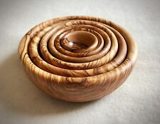 Handmade olive wood nesting bowl set of 6 bowls, snacking, serving dish.Stacking