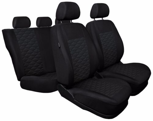 leatherette Eco leather black CAR SEAT COVERS full set fit Peugeot 208