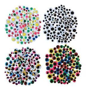 Googly Eyes Craft Kit Wiggly Wobbly Sticky Stick On Kids Fun Art Activity UK