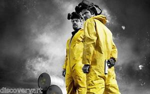 Breaking Bad Movie Poster Canvas Wall Art Print Aaron Paul Bryan Cranston Film