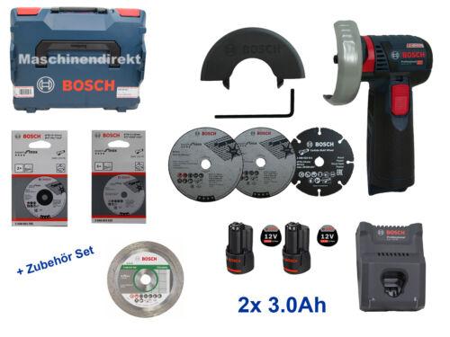 Bosch Professional Batterie Angle Meuleuse GWS 12v-76 Accessoires Set 2x3.0ah Gal