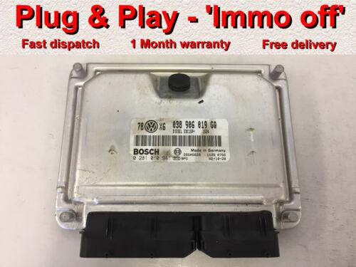 VW Passat B5 2003 1.9 tdi ECU 038906019GQ // 0281010941 *Plug /&Play* Immo off