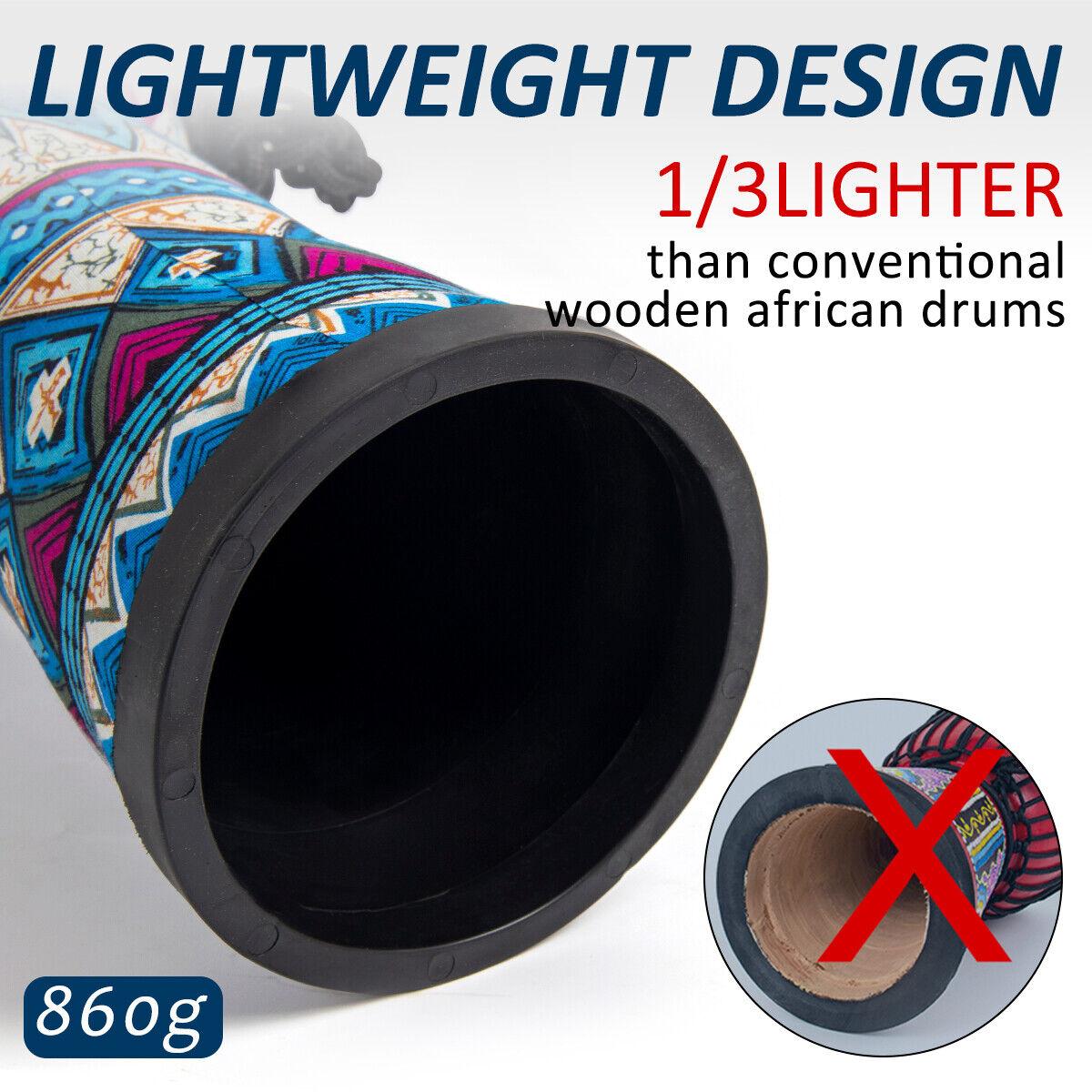Djembe African Drum 8 Inch Blue Goat Skin Drum Head