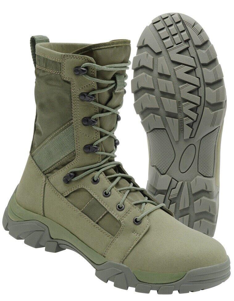 Brandit Militärschuhe Stiefel Stiefel Militär Herren Defence Tactical Oliven