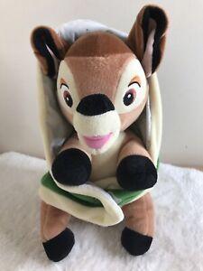 DISNEY Babies Bambi con Coperta Morbido Peluche Giocattolo Peluche da collezione
