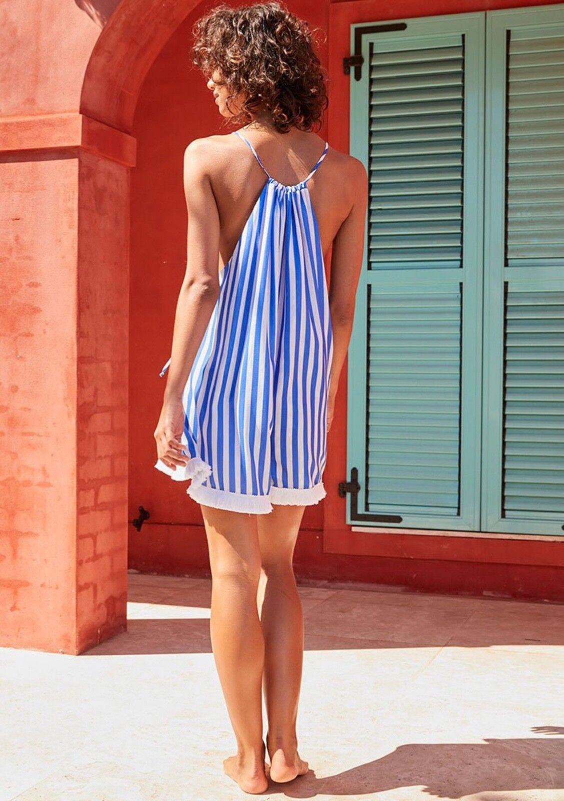 Shona Joy San Remo Romper in Cobalt Stripe Size AU 6 US 2