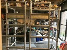 Werner Aluminum Rolling Scaffolding 4100 Series With Base Upper Amp Plank Deck