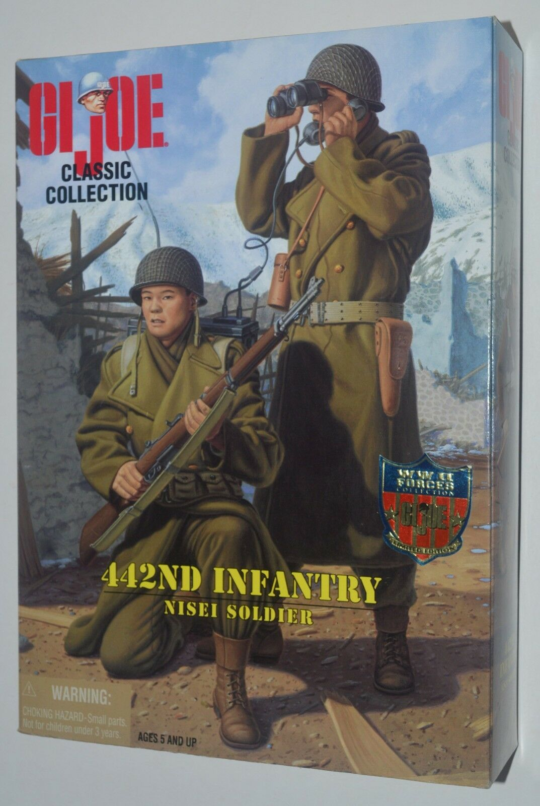 GI Joe 442nd Infantry NISEI SOLDIER WWII Forces Collection Action Figure MIB