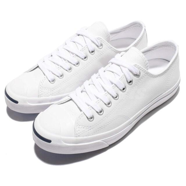 3e4b8831fbc1 Converse Jack Purcell Leather White Men Women Classic Shoes Sneakers 1S961